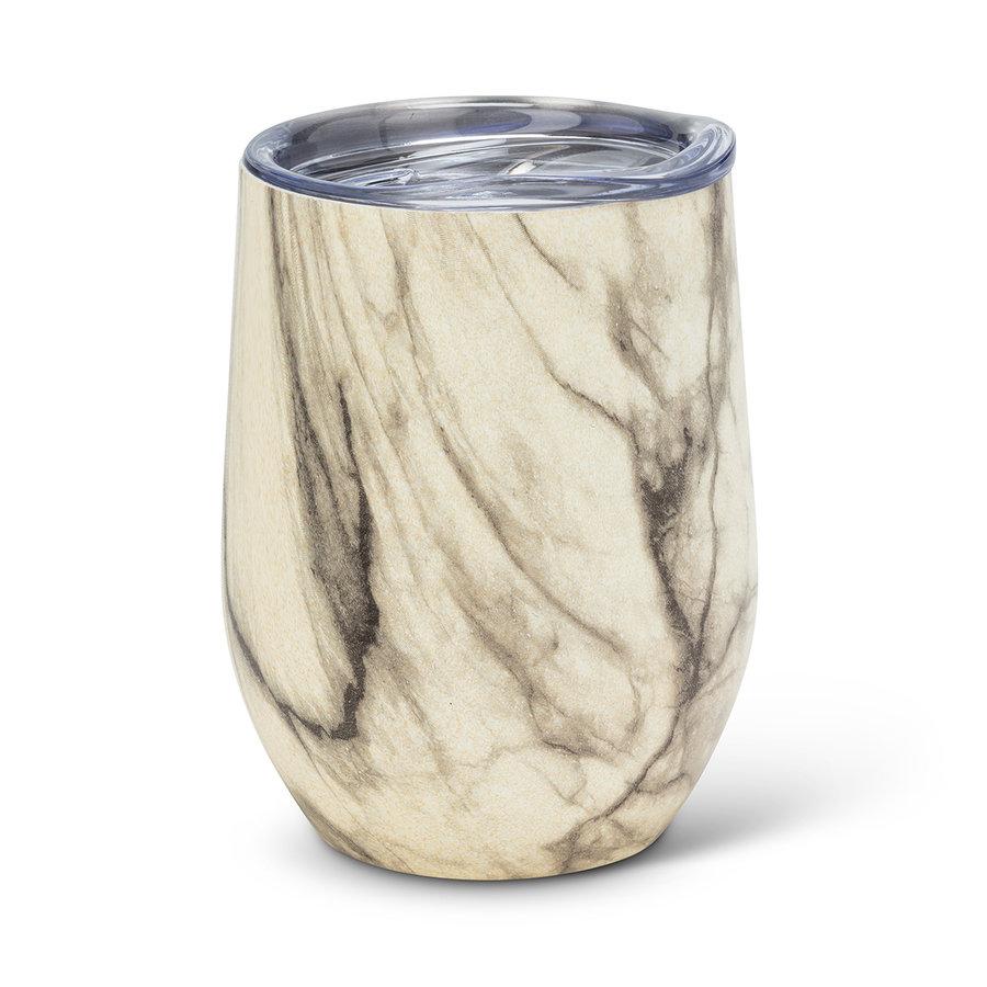 Verre à vin isolé Bevi, marbre - Photo 0