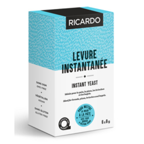 RICARDO Instant Yeast  6 packets of 8 g