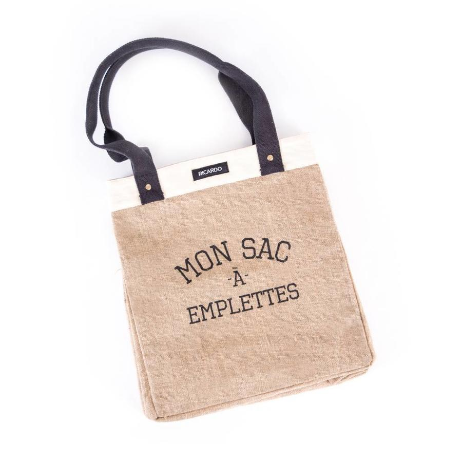 Sac à emplettes en jute - Photo 0