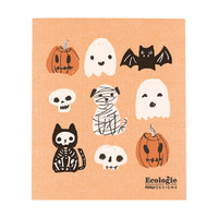 Essuie-tout en éponge à imprimé Halloween