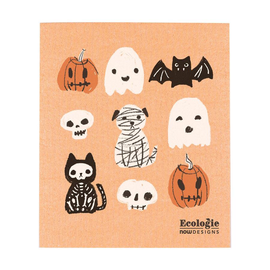 Essuie-tout en éponge à imprimé Halloween - Photo 0