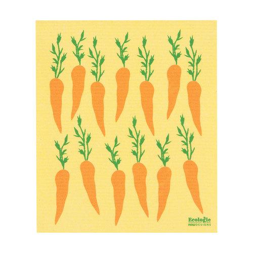 Carrot Print Sponge Towel