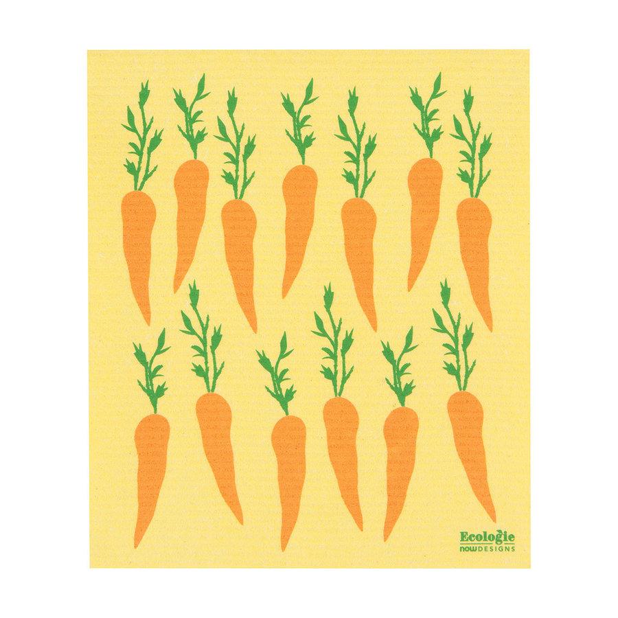 Essuie-tout en éponge à imprimé carottes - Photo 0