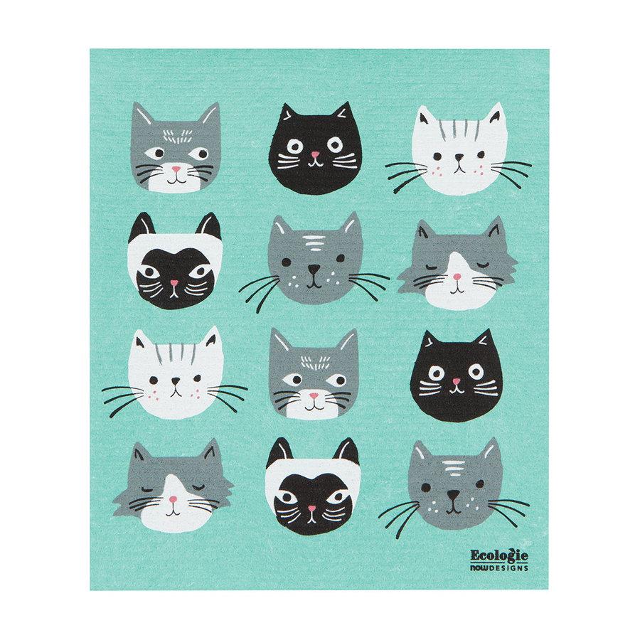 Cat's Meow Print Sponge Towel - Photo 0