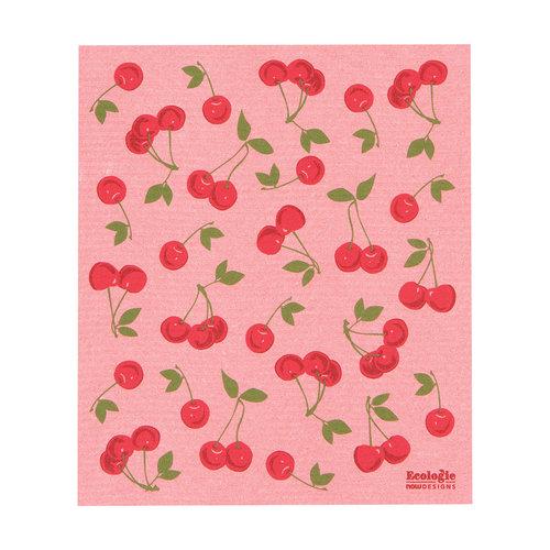 Cherries Print Sponge Towel