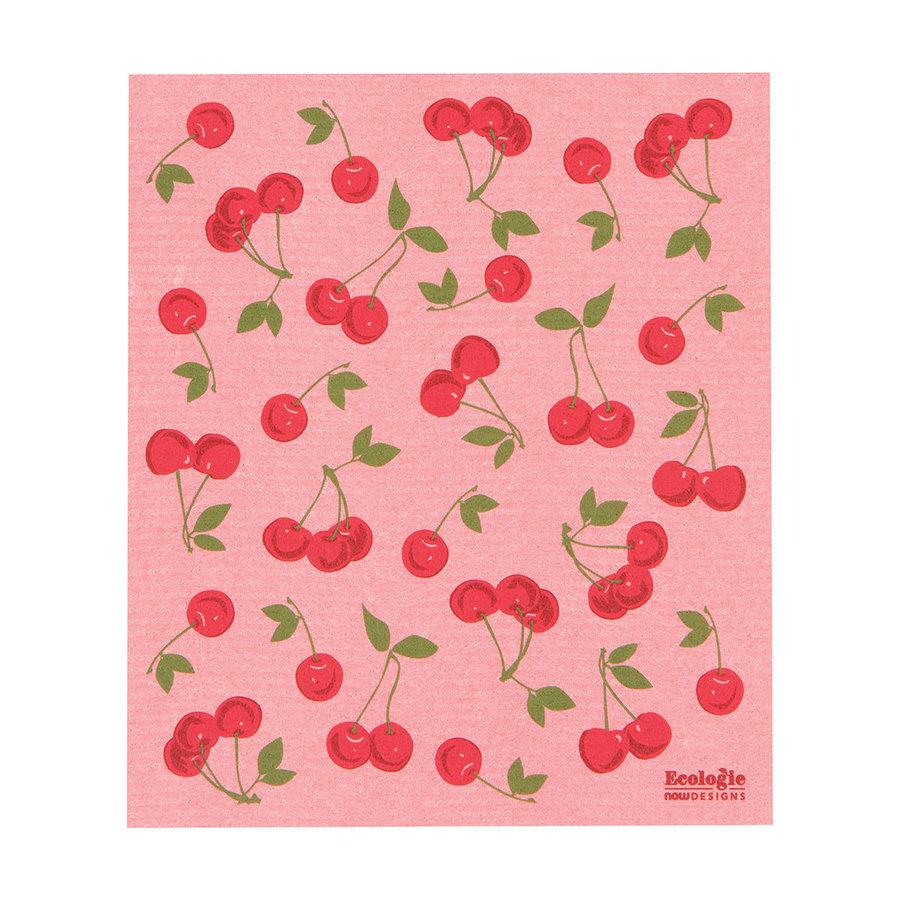 Cherries Print Sponge Towel - Photo 0