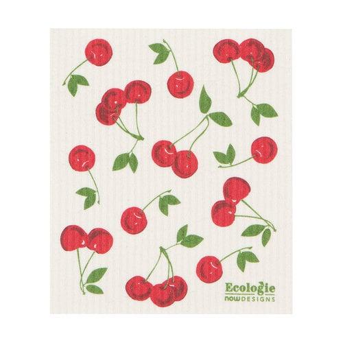 Cherries Print Sponge Cloth