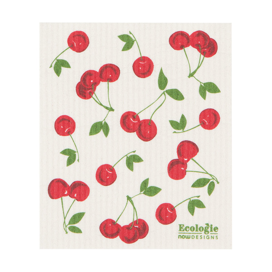 Cherries Print Sponge Cloth - Photo 0