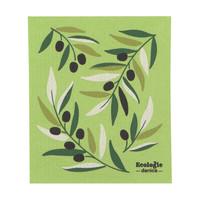 Essuie-tout en éponge à imprimé olives