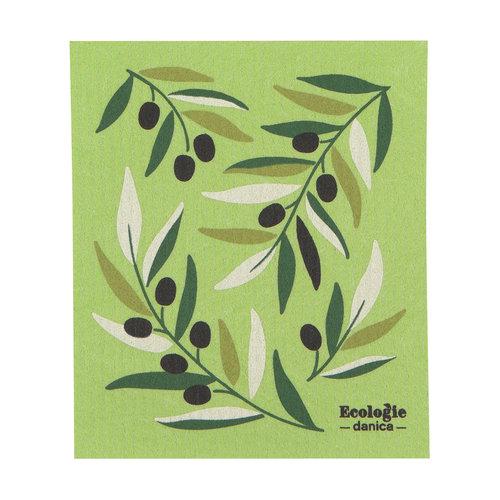 Olives Print Sponge Cloth