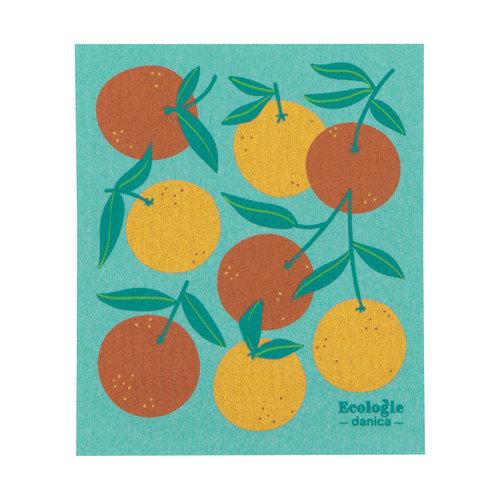 Oranges Print Sponge Cloth
