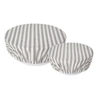 Couvre-bols en toile tissée rayée