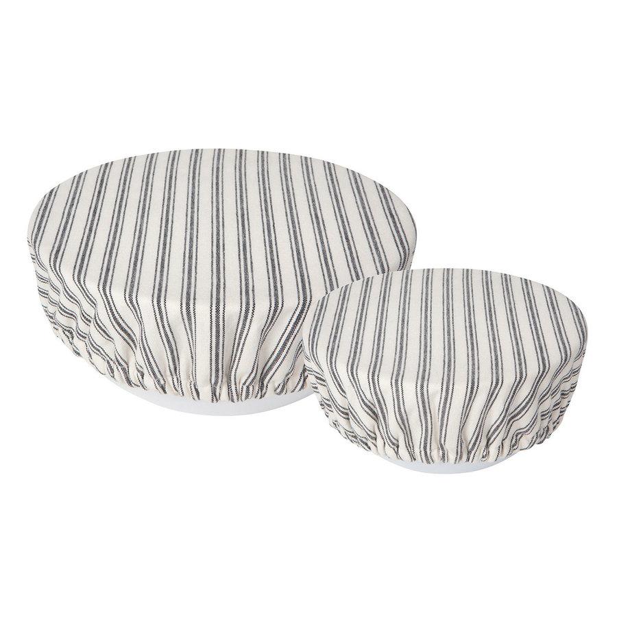 Couvre-bols en toile tissée rayée - Photo 0