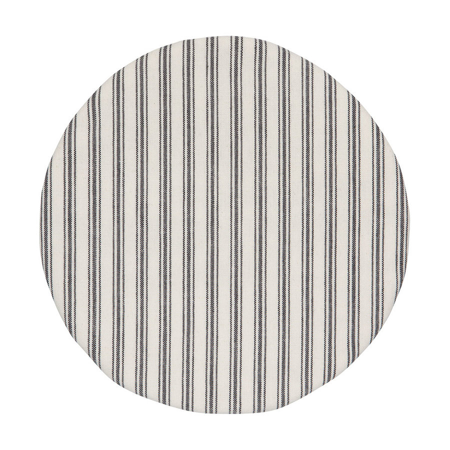 Couvre-bols en toile tissée rayée - Photo 1