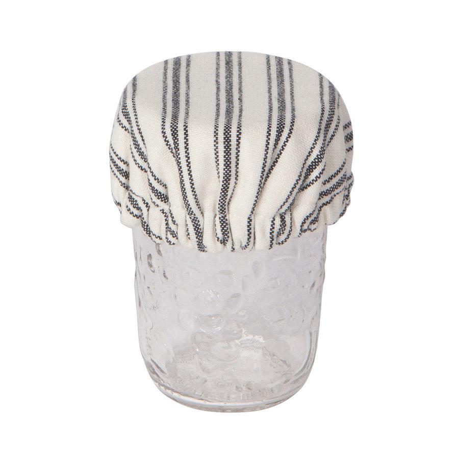 Mini couvre-bols en toile tissée rayée - Photo 1