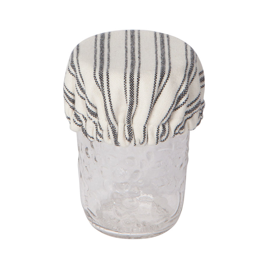 Striped Ticking Mini Bowl Covers - Photo 1