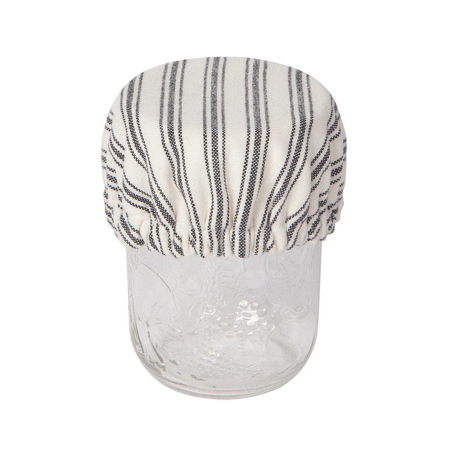 Mini couvre-bols en toile tissée rayée - Photo 2