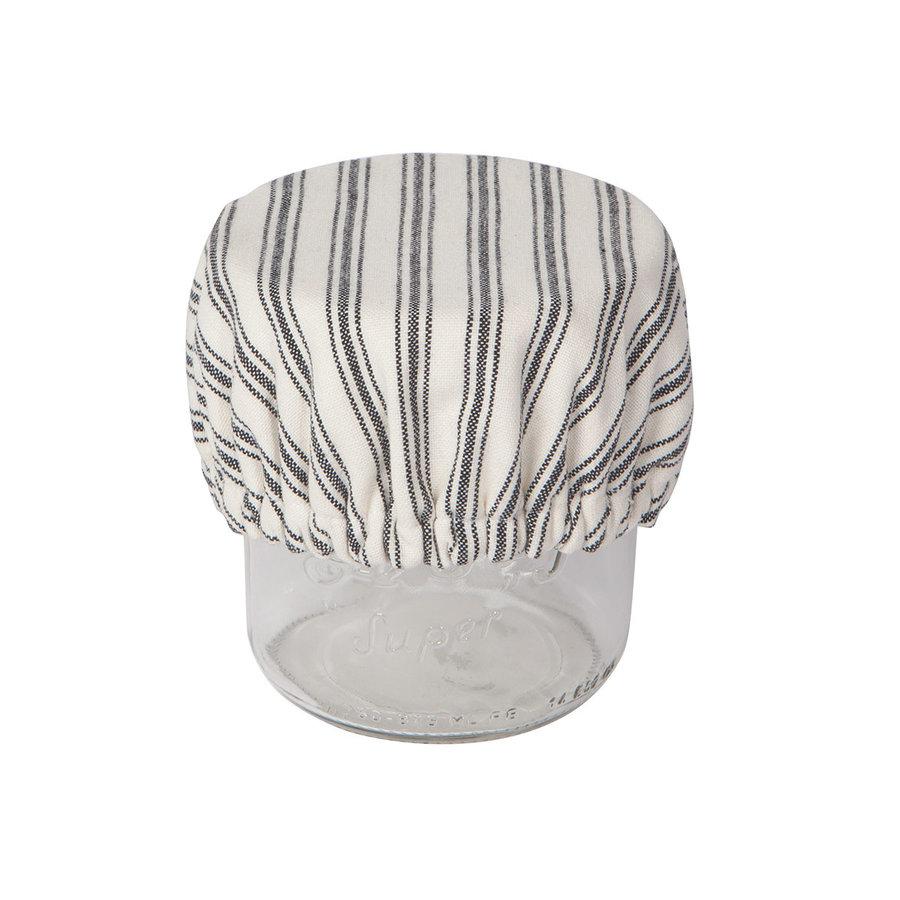 Mini couvre-bols en toile tissée rayée - Photo 3