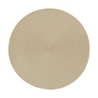 Napperon rond taupe clair
