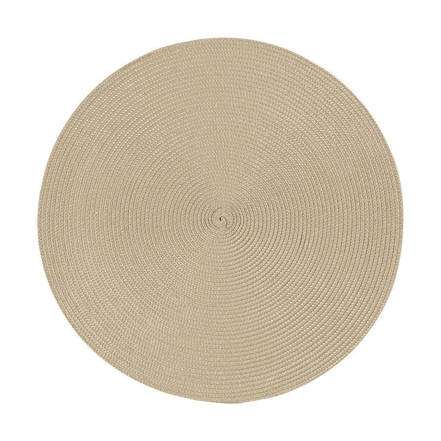 Napperon rond taupe clair - Photo 0