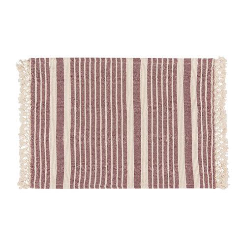 Wine-Colour Striped Placemat