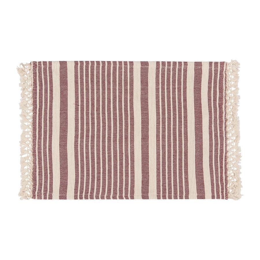 Wine-Colour Striped Placemat - Photo 0