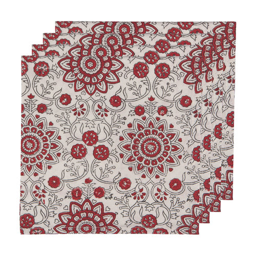 Passionflower Block Woven Napkins