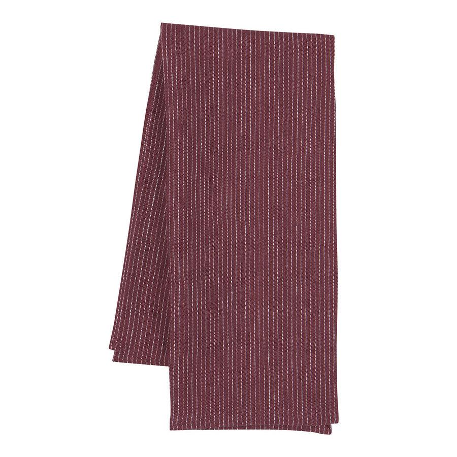 Wine-Colour Linen Dishtowel - Photo 0