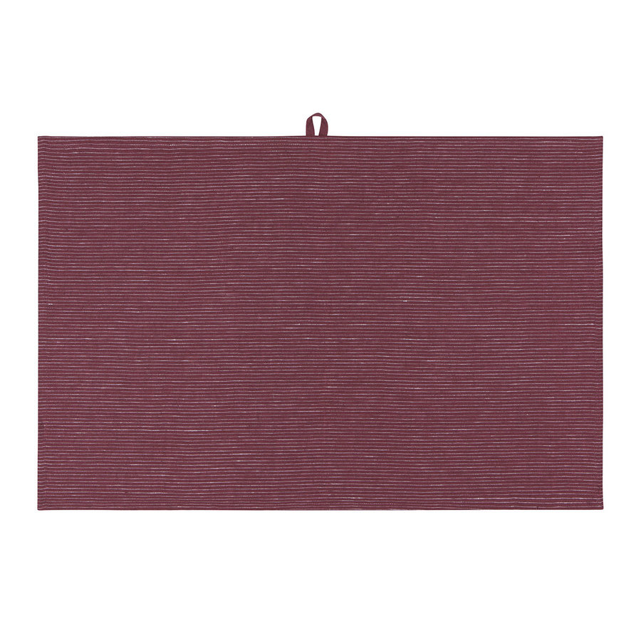 Wine-Colour Linen Dishtowel - Photo 2