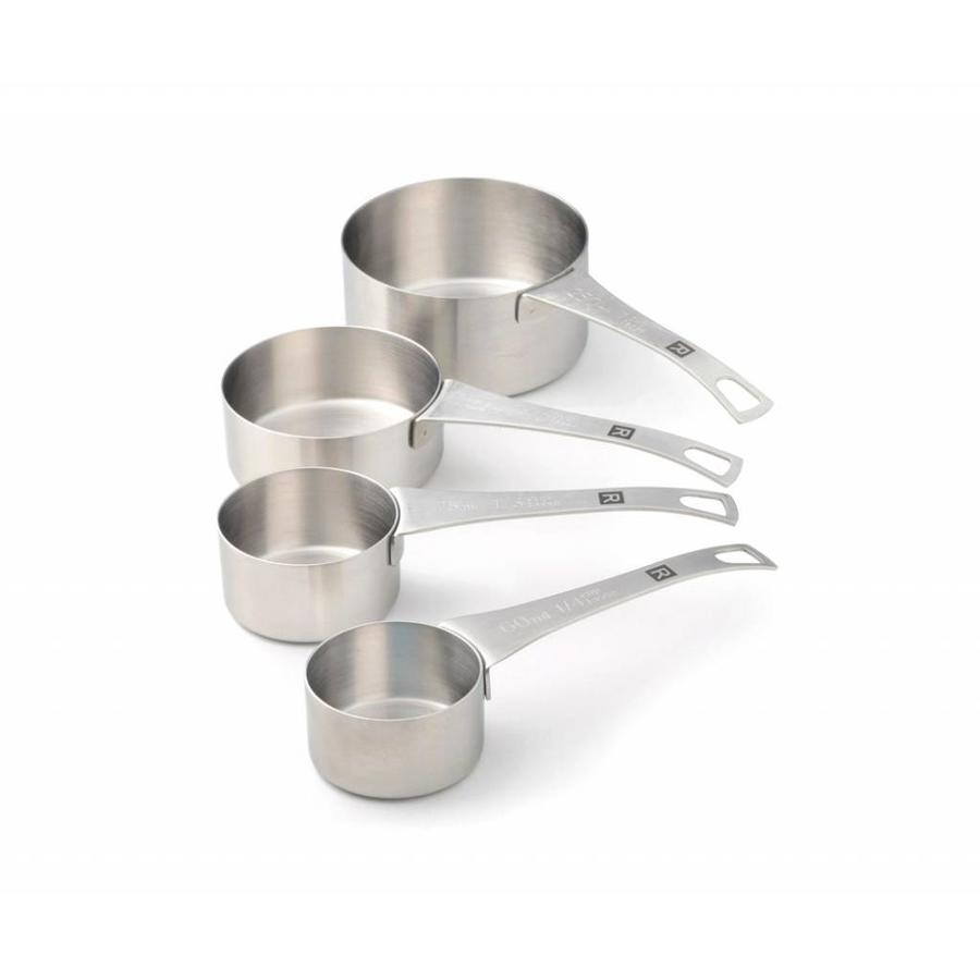 Set of 4 Stainless Steel Measuring Cups - Photo 0