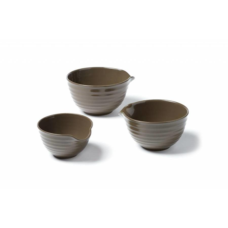 Set of 3 Stoneware Mixing Bowls - Photo 0