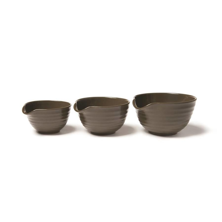 Set of 3 Stoneware Mixing Bowls - Photo 1