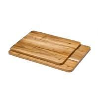 Set of 2 Acacia Wood Serving Boards