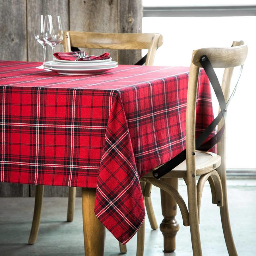 Red Checkered Tablecloth - Photo 0