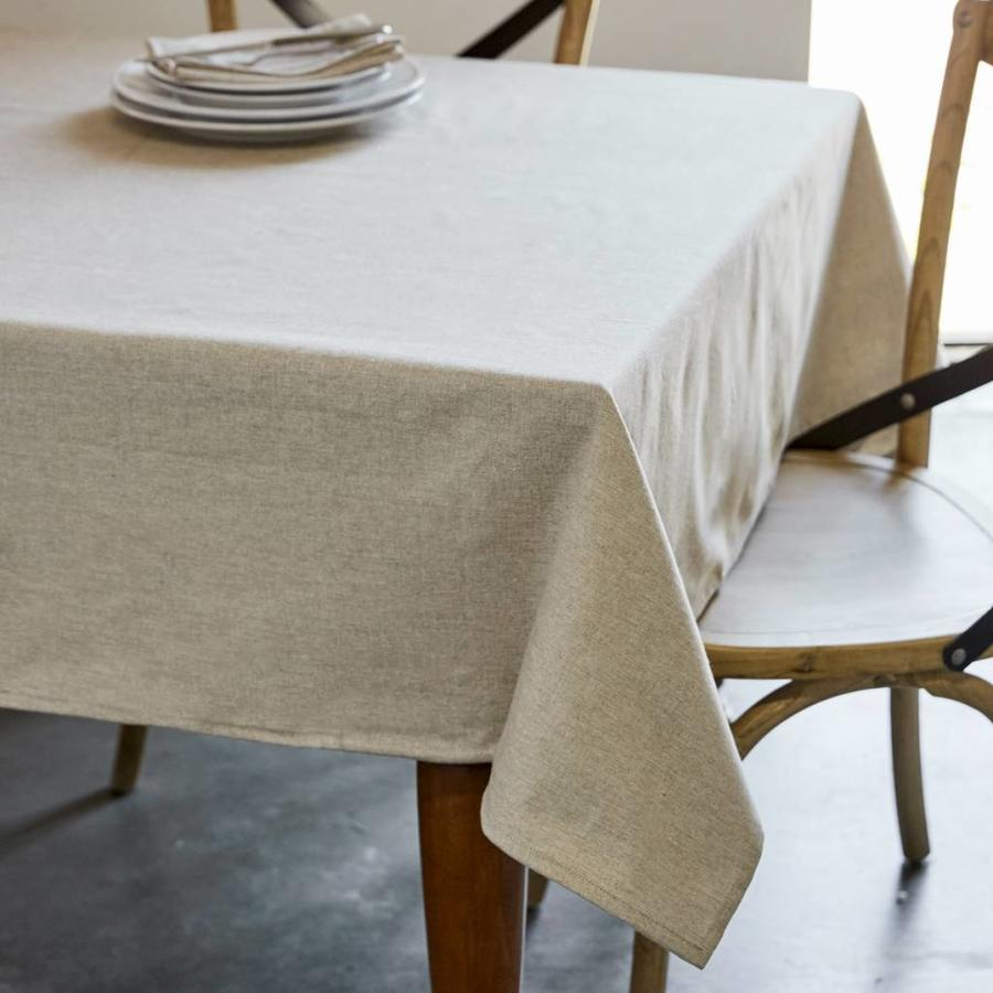 Beige Chambray Tablecloth - Photo 0