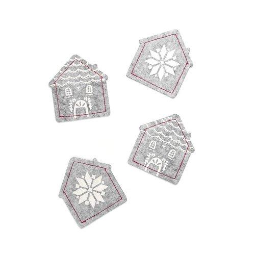 House-Shaped Felt Coasters