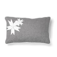 Grey Cushion with Herringbone Pattern