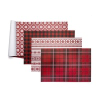 Napperons assortis en papier rouge