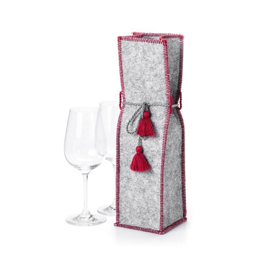 Grey Felt Wine Bag - Photo 0