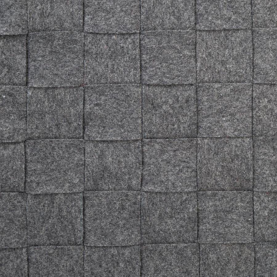 Vis-à-vis tressé en feutre gris - Photo 1