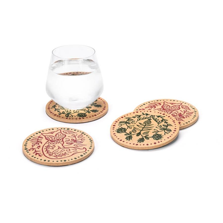 Nordic Forest Cork Coasters - Photo 0