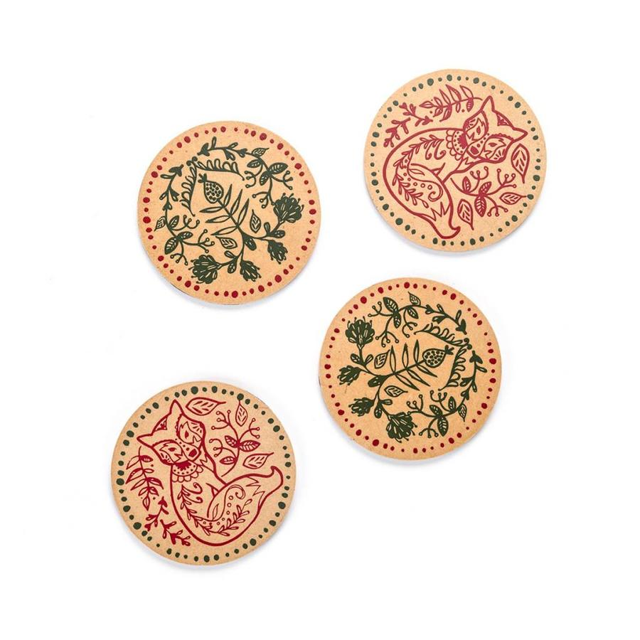 Nordic Forest Cork Coasters - Photo 1