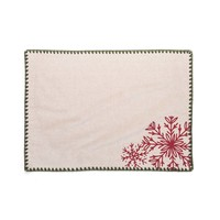 Nordic Forest Placemats with Red Embroideries