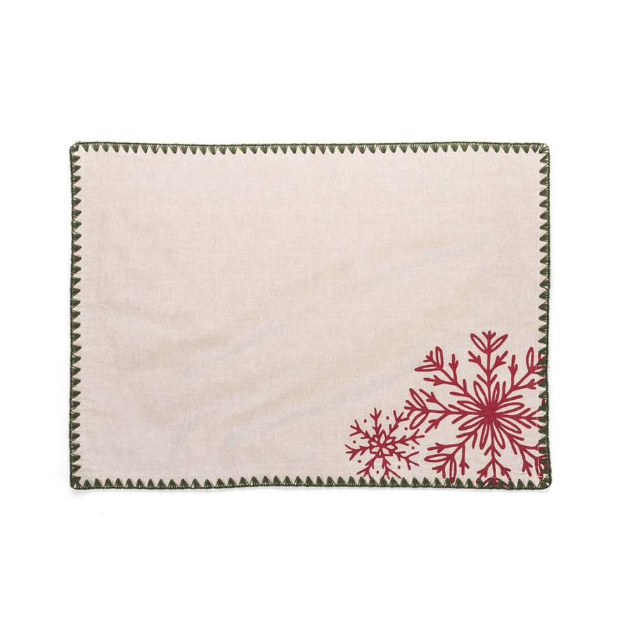 Nordic Forest Placemats with Red Embroideries - Photo 0