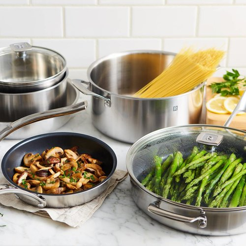 RICARDO 10-Piece Stainless Steel Cookware Set