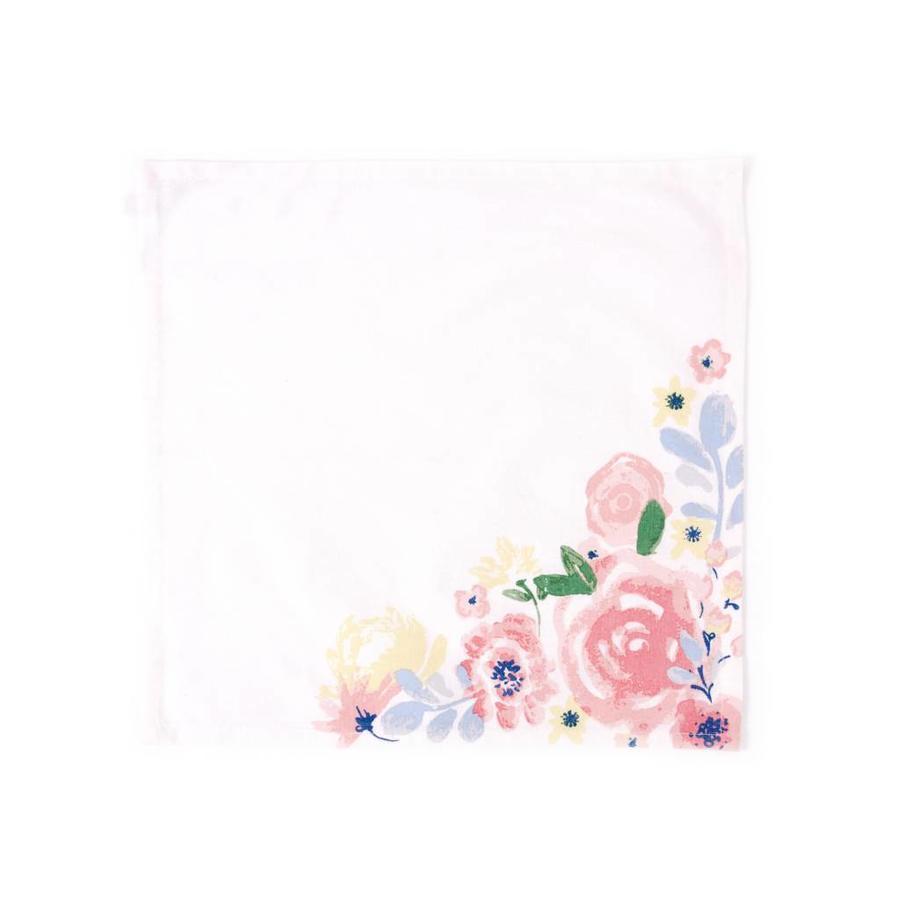 Serviettes de table fleuries - Photo 0