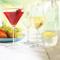 Set of 4 Shatter-resistant Martini Glasses