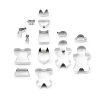 17-Piece Gingerbread Man Cookie Cutter Set