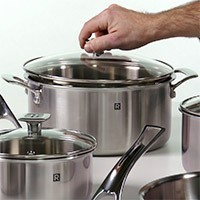 RICARDO's 10-Piece 3-Ply Stainless Steel Cookware Set