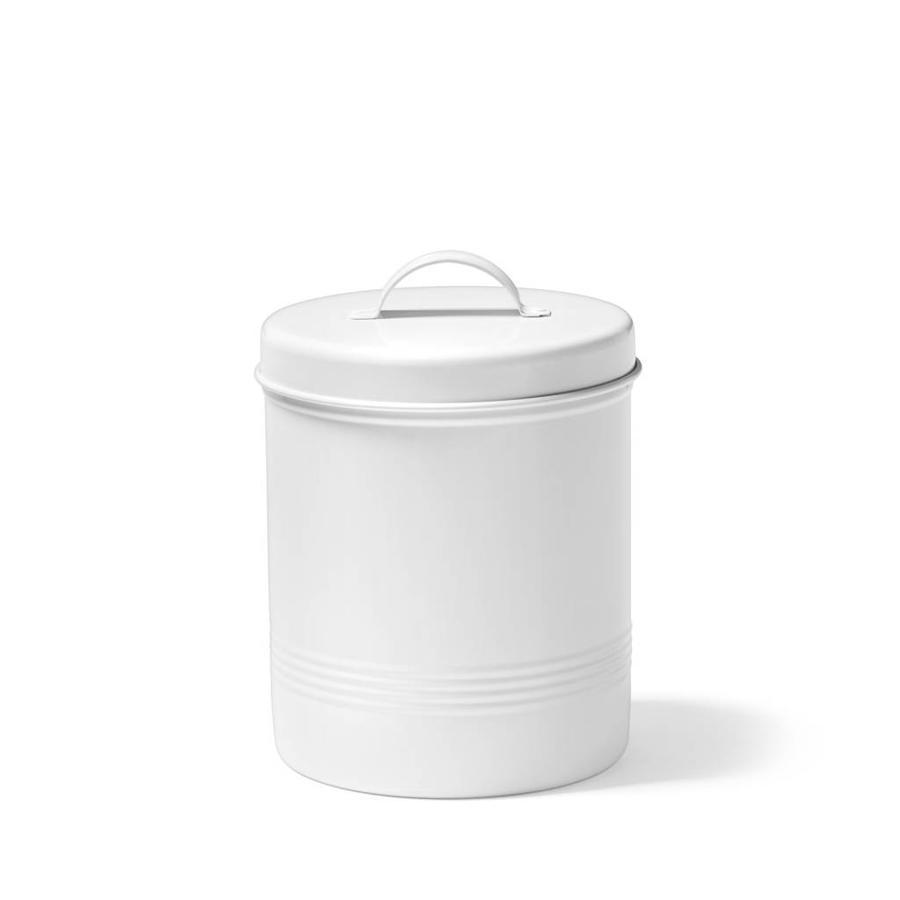 Contenant pour aliments blanc en métal de 1,6 litre - Photo 0